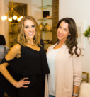 Glo Party 14 - Amy and Nicole Jump - Newtown Cosmetic Dentist Nicole M Armour, DMD - Make Your Smile Glo Event